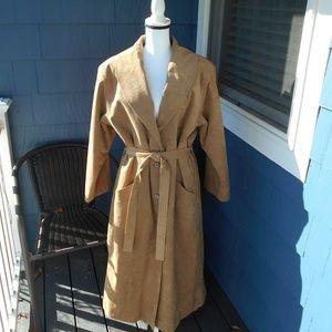 Vintage Nat Kaplan Ultra Suede Trench Coat